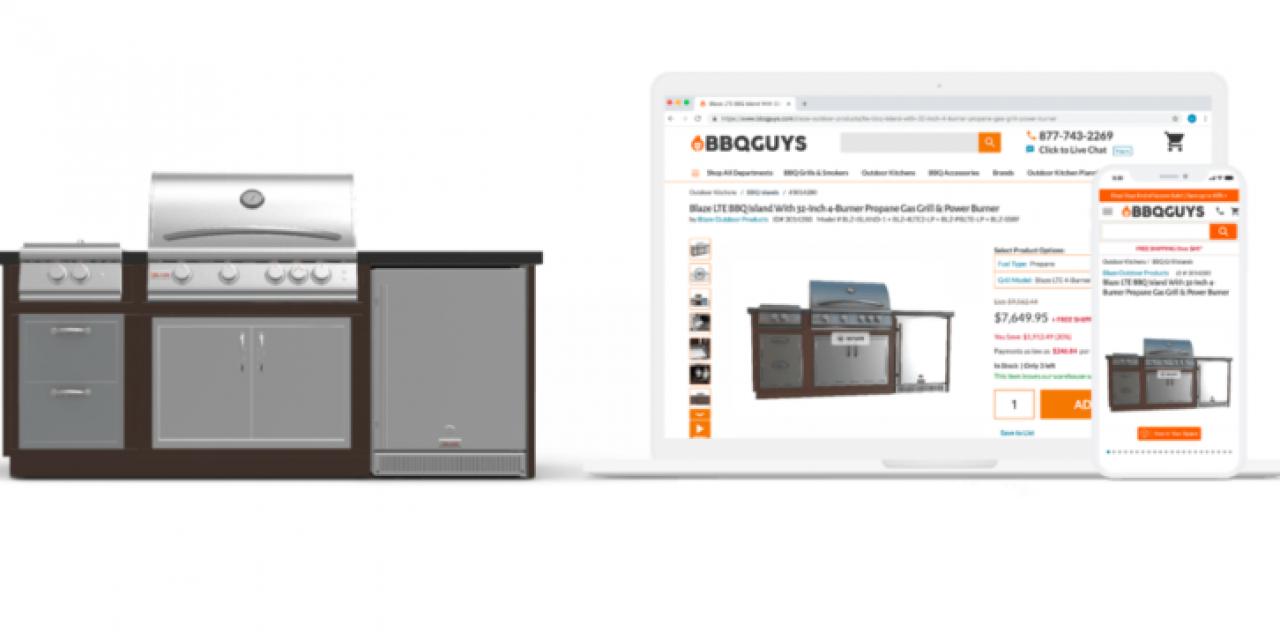 AR和3D有助于解决仅在线销售烧烤架零售商的销售