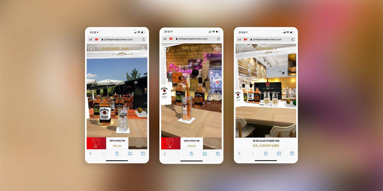 AR虚拟酒吧,酒品牌Jim Beam 将您的空间变成一个虚拟酒吧,您就是调酒师!